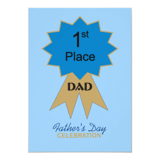 First Place Ribbon Father's Day Invitation