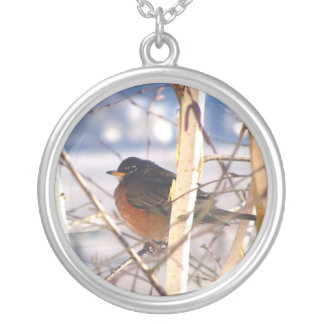 First Robin Silver Plated Necklace
