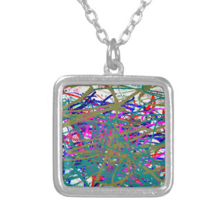 First Scrawl of Famous Digital Artist ;) Kids Art Silver Plated Necklace