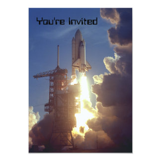 """First Shuttle Launched 5"""" X 7"""" Invitation Card"""