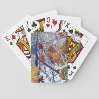 First Snow Winter Camouflage Decor Playing Cards