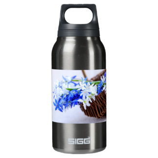 First spring flowers insulated water bottle