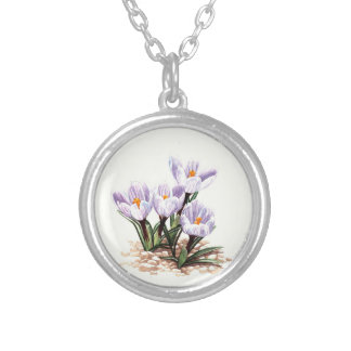 First spring silver plated necklace