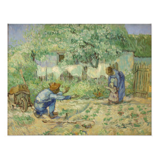 First Steps (after Millet) by Vincent Van Gogh Photo Print