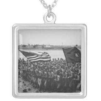 First to Fight - US Marines - 1918 Silver Plated Necklace