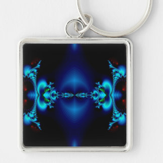 First Touch Silver-Colored Square Key Ring