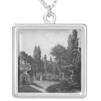 First view of the great garden silver plated necklace