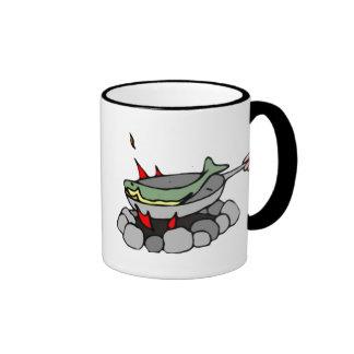 Fish and a Campfire Mug
