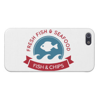Fish And Chips Seafood Logo iPhone 5/5S Case