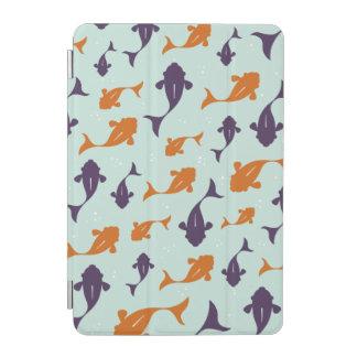Fish Bowl   Aqua Orange Pattern Design iPad Mini Cover