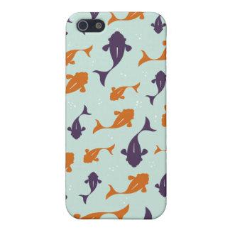 Fish Bowl | Aqua Orange Pattern Design Case For The iPhone 5