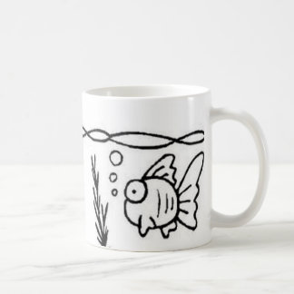 fish bubble coffee mug