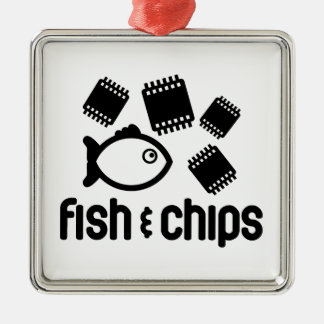 Fish & Chips Christmas Ornament
