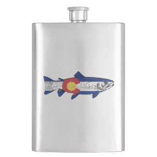 Fish Colorado Hip Flask