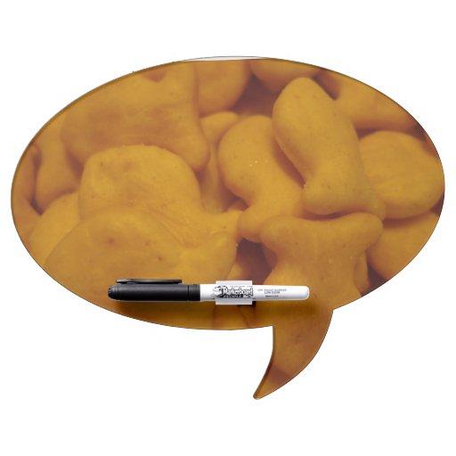 Fish Cracker Oval Speech Bubble Dry Erase Board