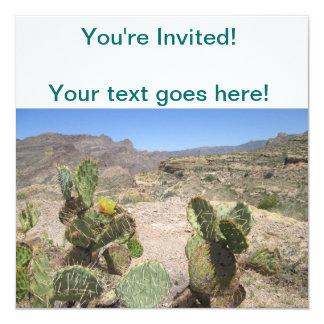 Fish Creek Hill Vista Prickly Cactus 13 Cm X 13 Cm Square Invitation Card