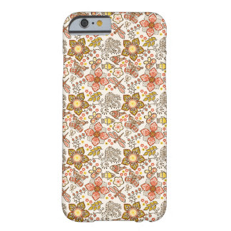 Fish Dragonfly Flower Orange Yellow Pattern Barely There iPhone 6 Case