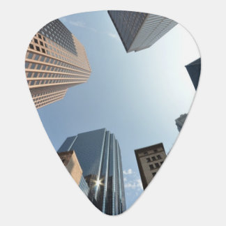 Fish-eye lens of building, Boston, US Guitar Pick