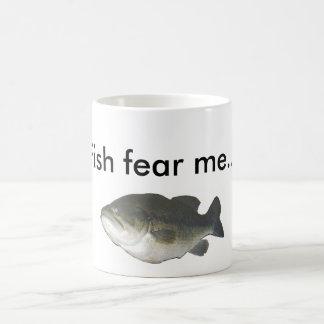 Fish fear me... basic white mug