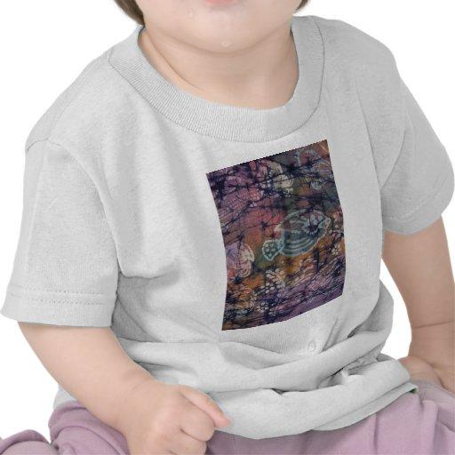 Fish & Floral Tie-Dye Batik Tshirt