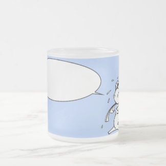 Fish in the cup frosted glass mug