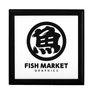 FISH MARKET GRAPHICS LOGO GIFT BOX