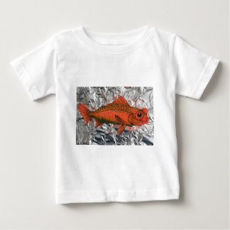 Fish on foil baby T-Shirt