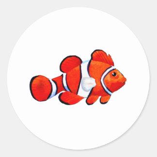 Fish Orange Vero Beach 2010 The MUSEUM Zazzle Gift Round Sticker