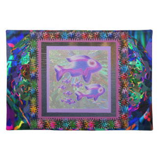 FISH Pet Aquarium Decorations KIDS Room Fun GIFTS Placemat