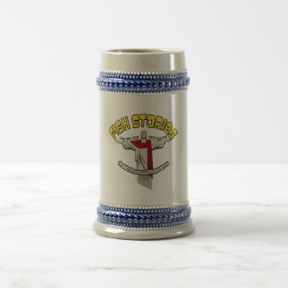 Fish stories beer stein