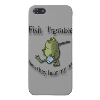 Fish Tremble When They Hear My Name  black frog iPhone 5 Cases