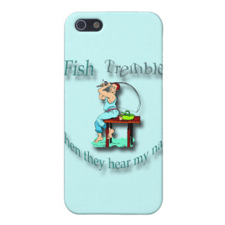 Fish Tremble When They Hear My Name  cyan iPhone 5 Cases