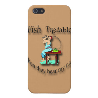 Fish Tremble When They Hear My Name  man black iPhone 5/5S Covers