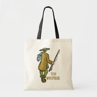 Fish Whisperer Fishing Tote Bag