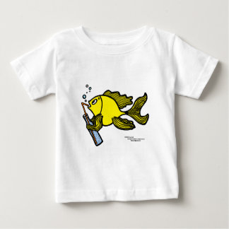 Fish with a Drink, Drinking Fish Baby T-Shirt