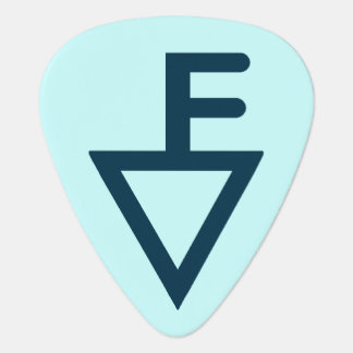 Fisher Brand Guitar Pick Blue