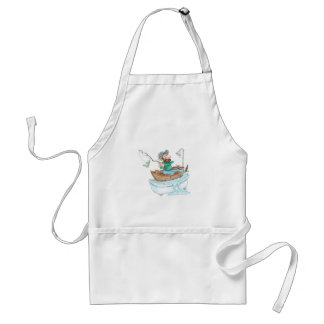 Fisherman in a tub adult apron