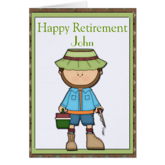 Fisherman Retirement Card