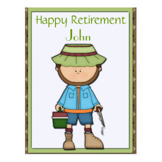Fisherman Retirement Postcard