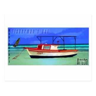 Fisherman's Hut Aruba Postcard