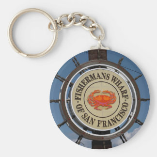 Fisherman's Wharf Sign Key Ring