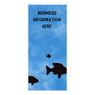 Fishes in the Deep Blue Sea Bookmark Rack Card