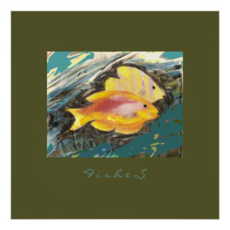 fishes painting poster