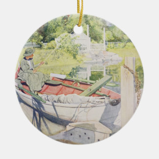 Fishing, 1909 christmas ornament