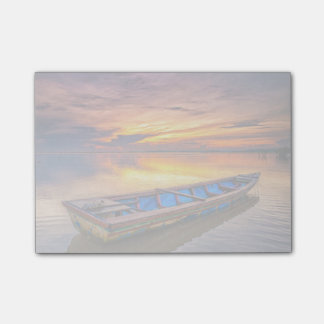 Fishing Boat At Sunrise | Jubakar Beach Post-it Notes