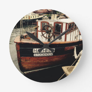 Fishing Boat in Sweden Clock