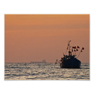 Fishing boat on the Baltic Sea Print