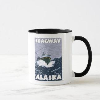 Fishing Boat Scene - Skagway, Alaska Mug