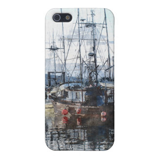 Fishing Boats Marina Watercolour Art iPhone Case iPhone 5/5S Case