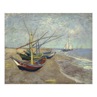 Fishing Boats on the Beach by Vincent Van Gogh Photo Print